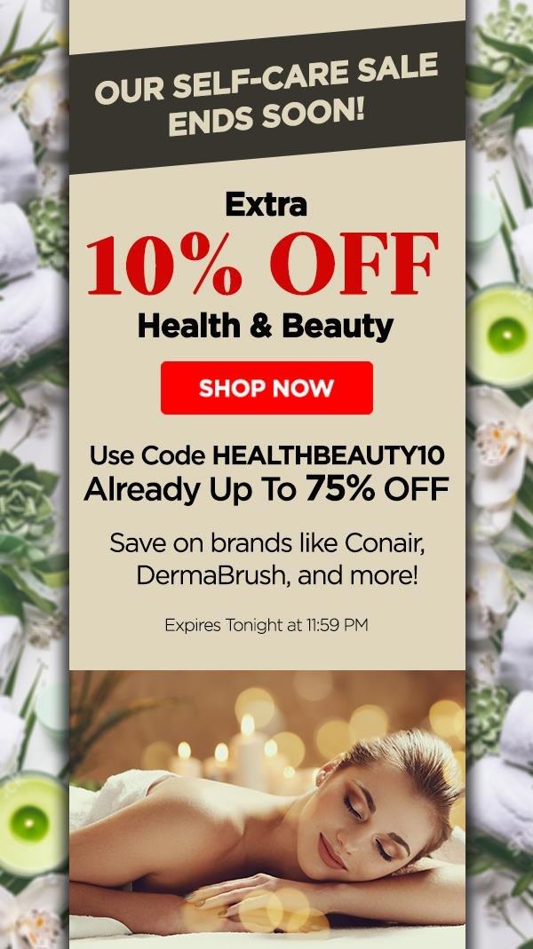 Extra 10% Off Health & Beauty | Use Code: HEALTHBEAUTY10 - Shop Now