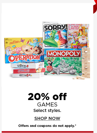 20% off games. shop now.