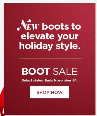 boot sale.  shop now.