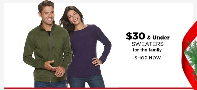 $30 and under sweaters for the family. shop now.