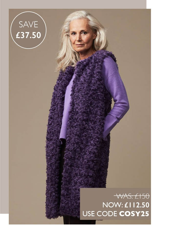 The Faux Fur Gilet Violet