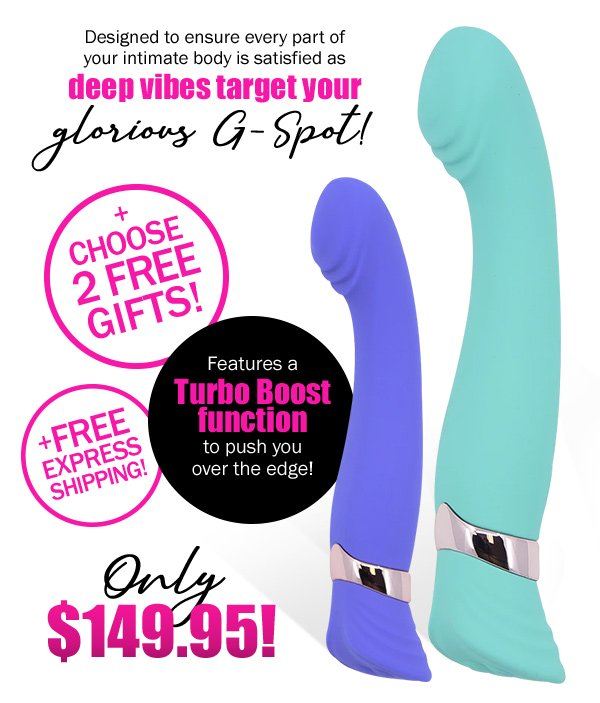 Sensuelle Geminii XLR8 G-Spot Vibrator. Only $149.95, plus choose 2 FREE gifts, plus FREE Express Shipping!