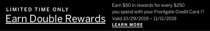 Limited Time Only Earn Double Rewards