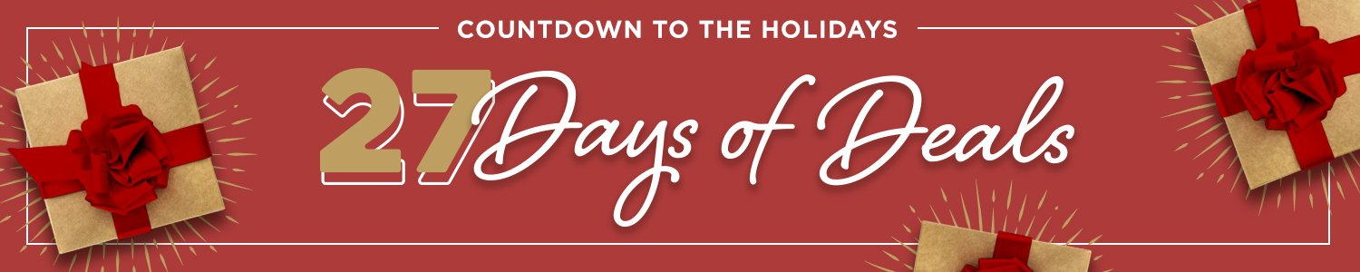Countdown to the Holidays: 27 Days of Deals