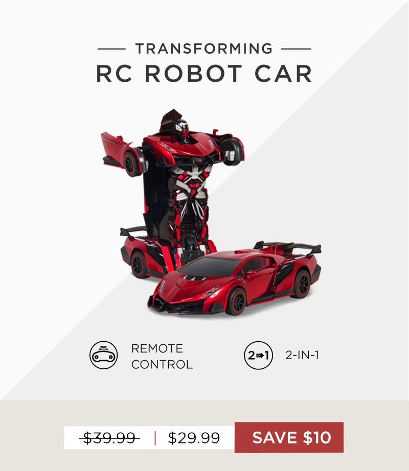 Save $10 on SKY2870, our transforming RC Robot Car
