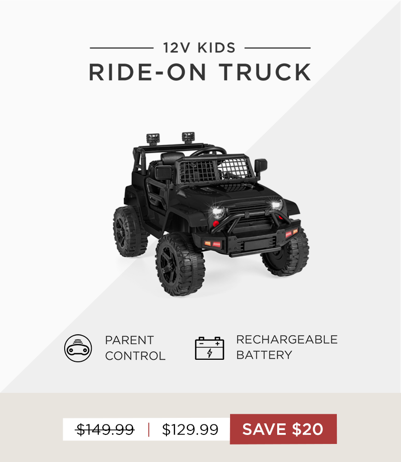 Save $20 on our 12V Ride On Truck