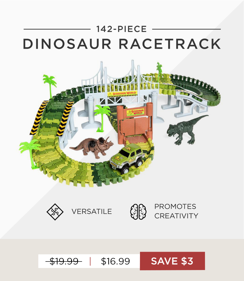 Get out Dinosaur Racetrack for $16.99