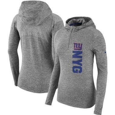 New York Giants Nike Women's Element Pullover Performance Hoodie - Heathered Gray