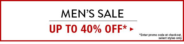 Men's Sale Up to 40% OFF