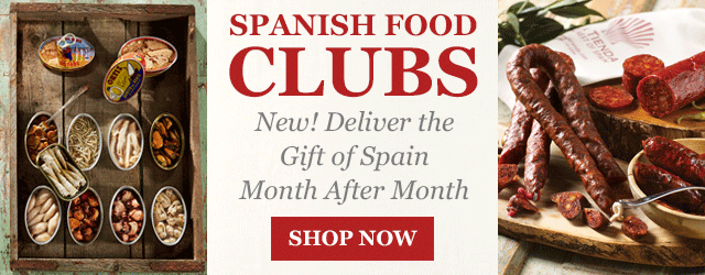 Spanish Food Clubs - New! Deliver the Gift of Spain Month After Month
