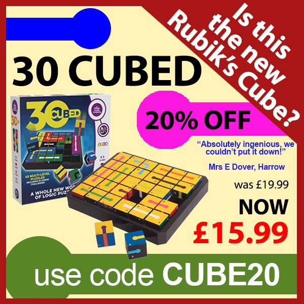 Enter code CUBE20 at the checkout