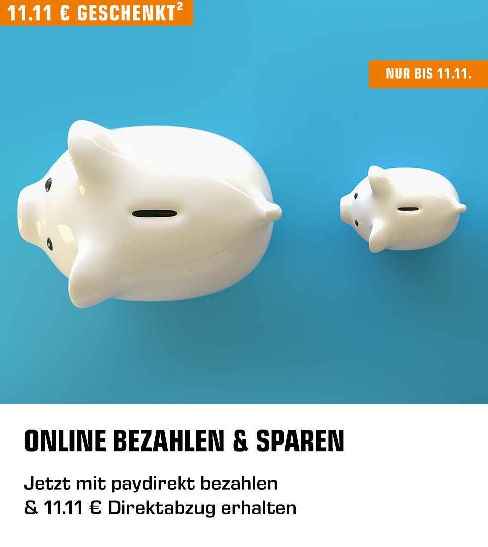 Jetzt mit paydirekt bezahlen & 11.11 € Direktabzug erhalten