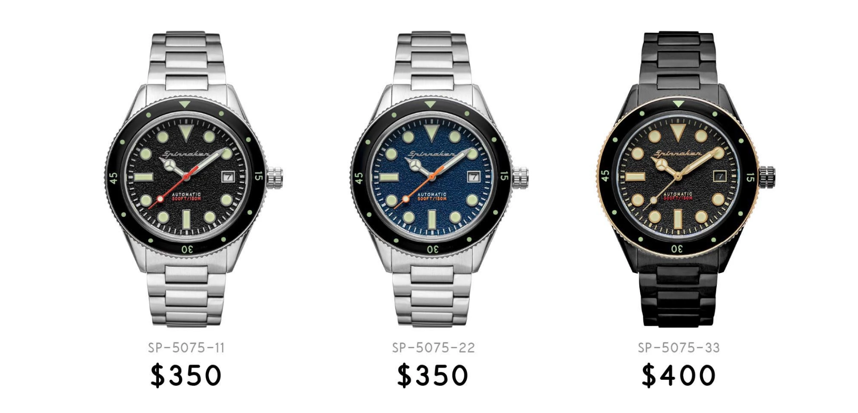 Now available for purchase on Spinnaker-Watches.com