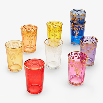 souk moroccan glass cups