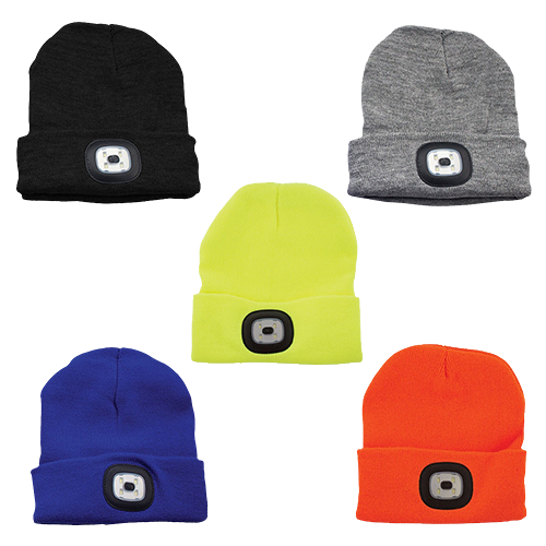 Choice Of Colours - Beanie Hat With Built In LED  - Only £6.99