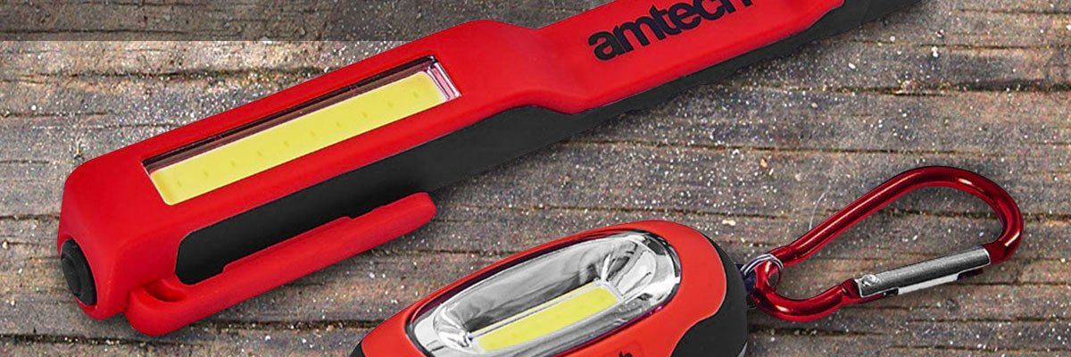 Value Pack - Amtech COB LED Worklight and Carabiner Light - Only £5.99