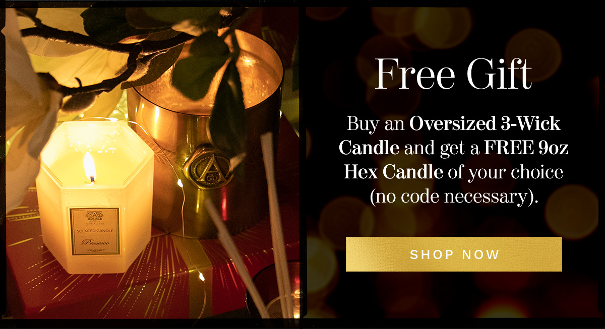 FREE 9oz Hex Candle with purchase