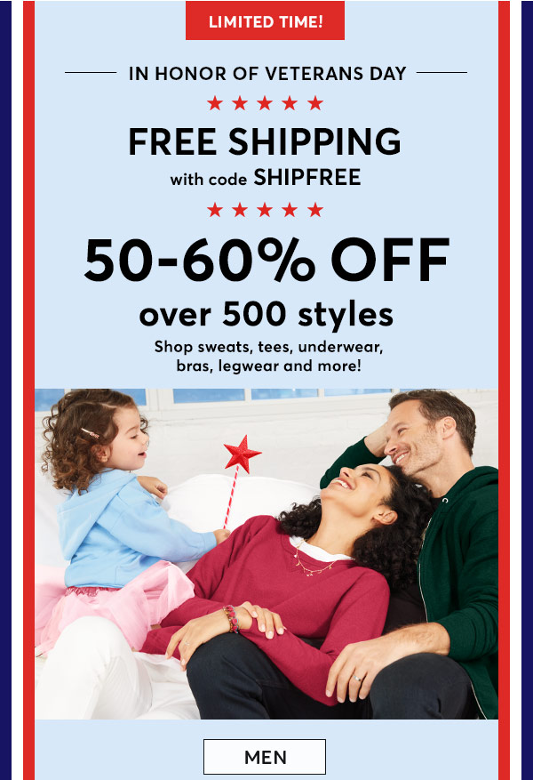 Shop 50-60% Off Men's Styles