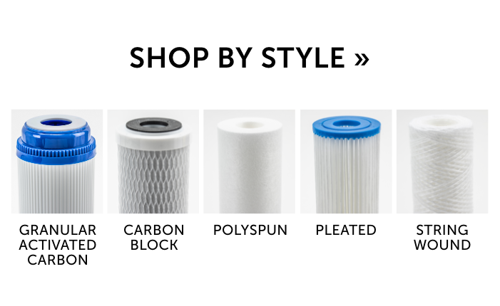 Shop our sediment filters by style! We make it easy to find the prefect filter for your needs. Click here to get started!