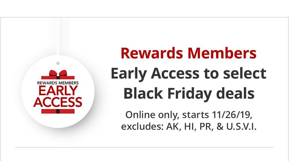 Sign Up For Rewards Membership, Start Saving For Black Friday