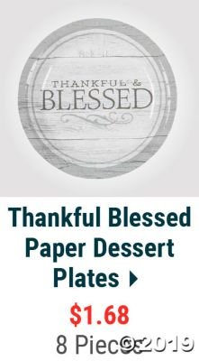Thankful Blessed Paper Dessert Plates