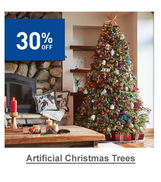 30% off Artificial Christmas Trees