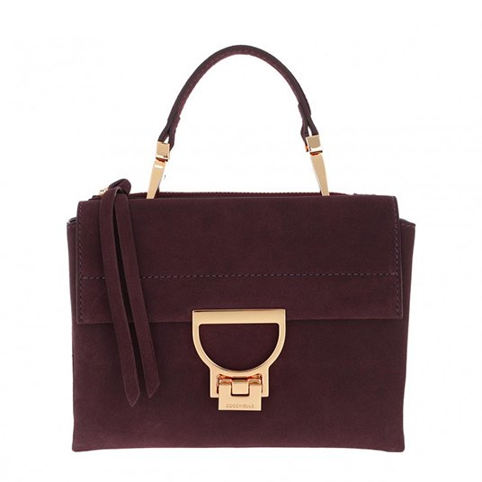 Arlettis Suede Crossbody Bag Plum