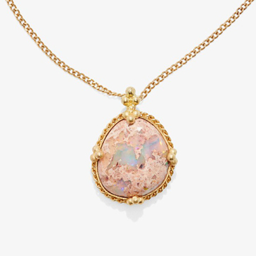 amali one-of-a-kind round opal necklace