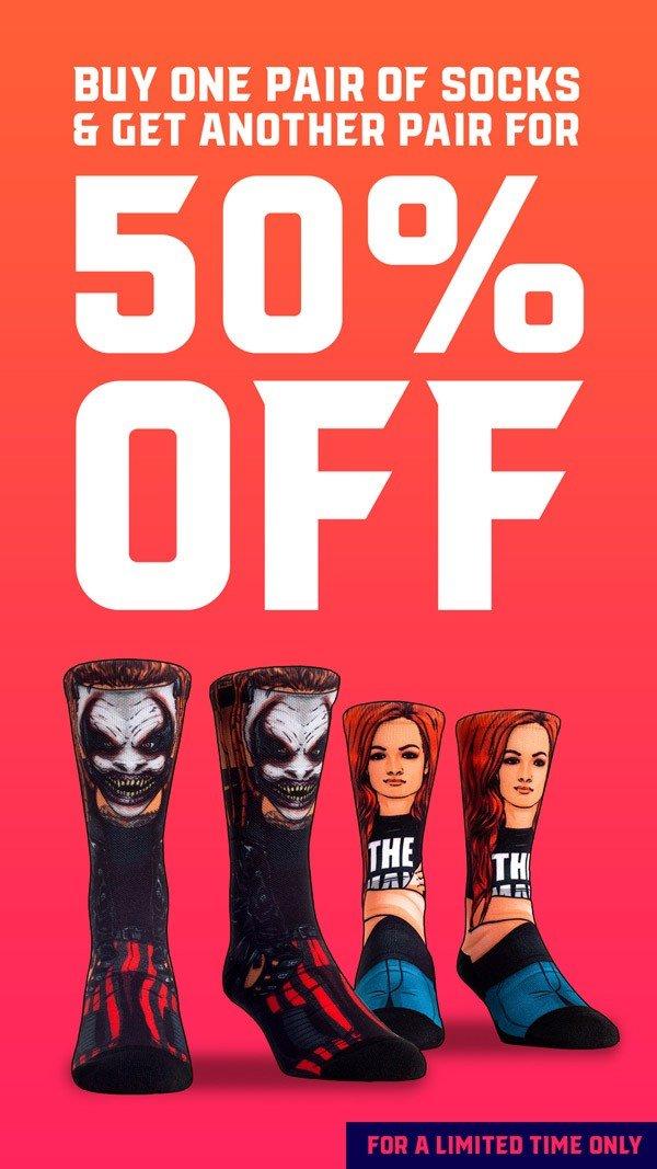BOGO 50% Off Socks