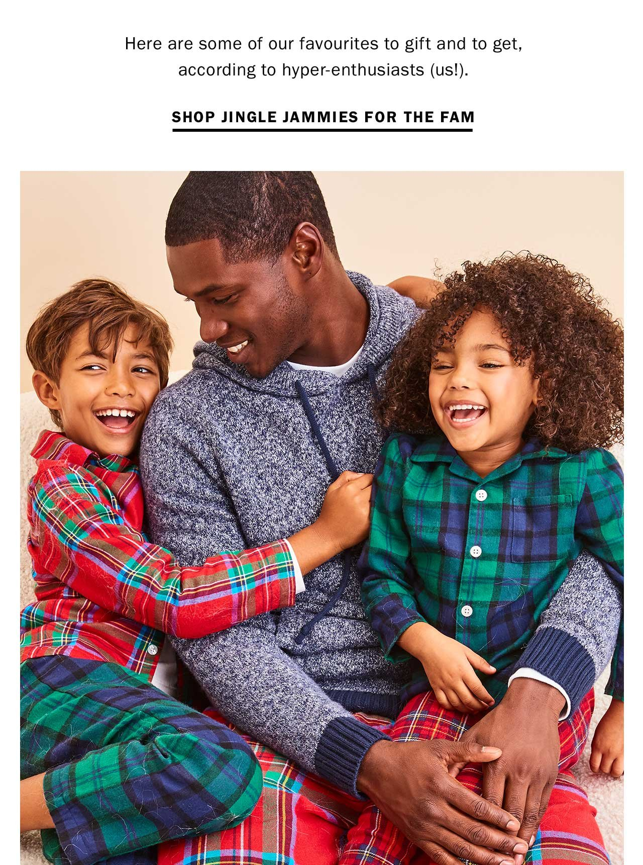 SHOP JINGLE JAMMIES FOR THE FAM