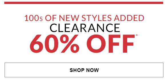 Clearance 60% Off