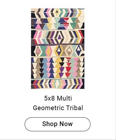 5x8 Multi Geometric Tribal