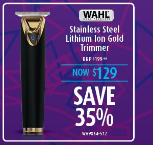 Wahl Stainless Steel Lithium Ion Gold Trimmer