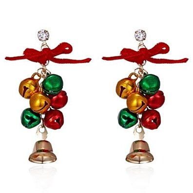 Fashion bell Bow Earrings Christmas Earrings