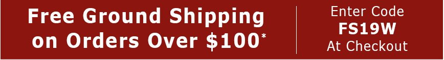 Free Ground Shipping On Orders Over $100*