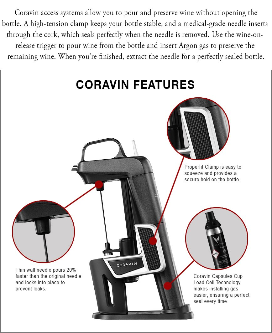 Coravin Features