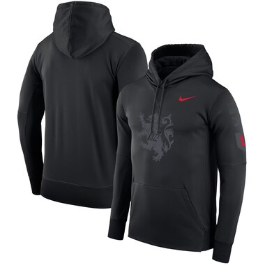 Army Black Knights Nike Rivalry Lion Therma Pullover Hoodie - Black