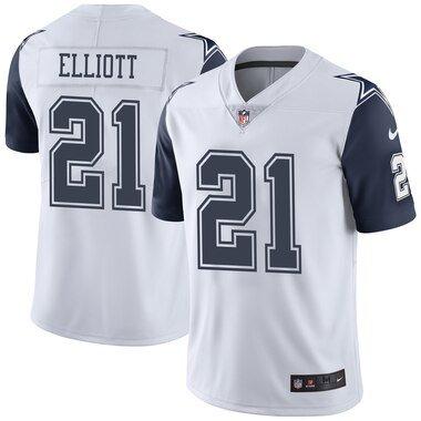 Ezekiel Elliott Dallas Cowboys Nike Vapor Untouchable Color Rush Limited Player Jersey - White