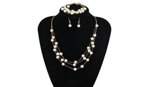 Pearl Necklace with Bracelet