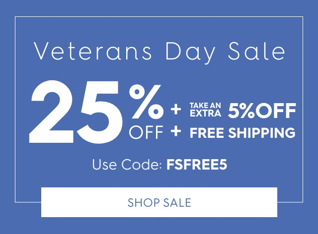 25% off + take an extra 5% off + free shipping. Use code: FSFREE5. Shop Sale.