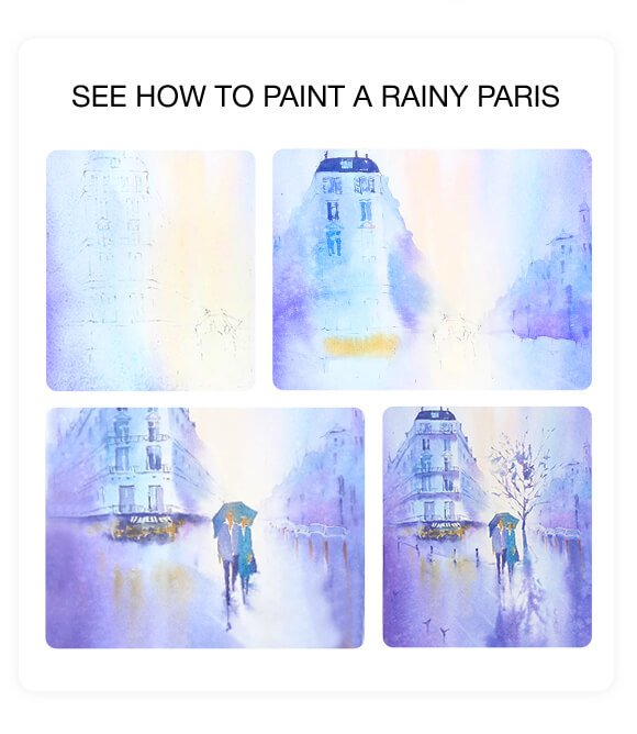 See How to Paint a Rainy Paris