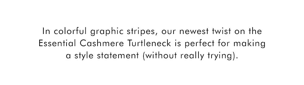 Shop Multi Stripe Essential Cashmere Turtleneck