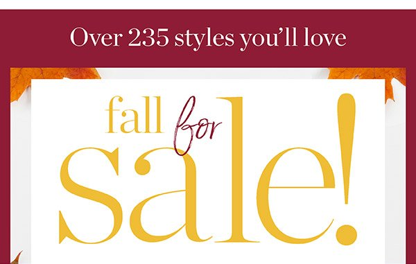 Fall for Sale! Shop Now