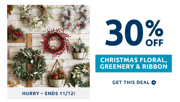 Hurry - ends 11/12.
