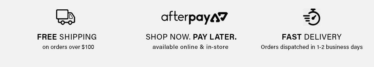 Shipping & Afterpay information