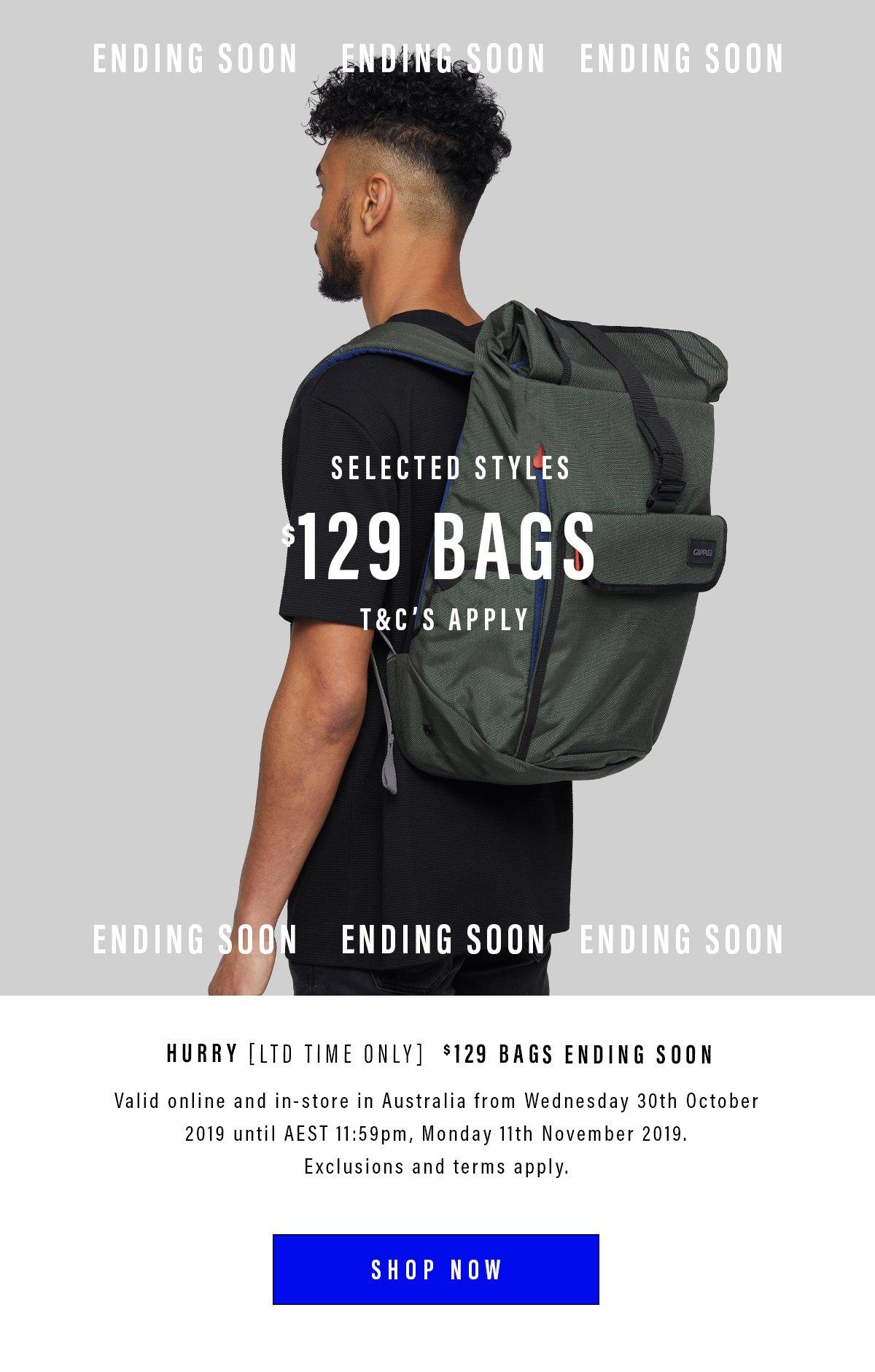 Shop $129 Bags