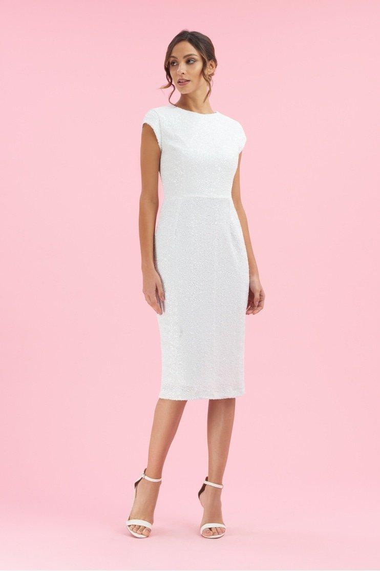 Moritz Sequin Cap Sleeve Pencil Dress