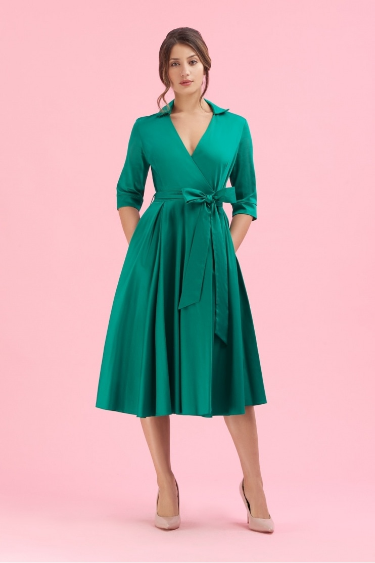 Taylor 1950's Wrap Dress