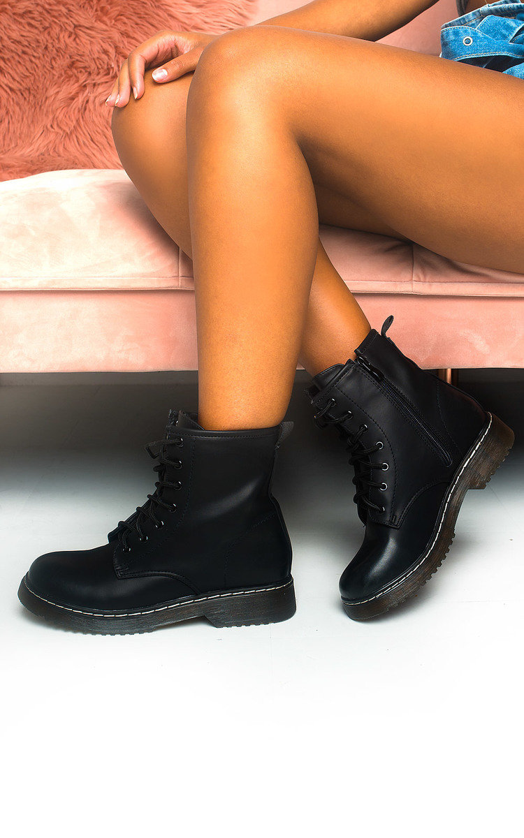 Cadence Lace Up Biker Boots