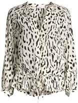 Marti Leopard Print Blouse